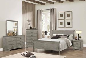 THIS WEEK ONLY YES WE DO EASY FINANCING WITH ONLY $39 DOWN PAYMENT TAKE HOME TODAY 4Pc bedroom set for only $$799 Includes Bed Frame, Nightstand, D for Sale in Chino, CA