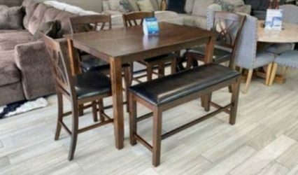 Adjustable TOP TABLE DINING SET with BENCH 🧡 No credit needed 👌 SAME DAY 🦋DELIVERY for Sale in Houston,  TX
