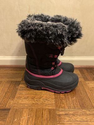 Kamik Girls Snow Boots Black Pink, Size 2 for Sale in Morton Grove, IL
