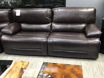 In Stock! Top Grain Leather Power Loveseat $1199! for Sale in Vancouver,  WA