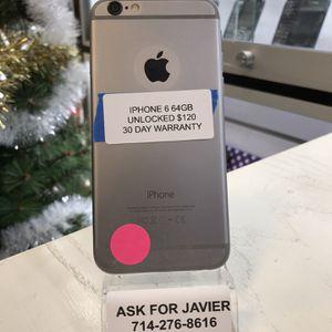iPhone 6 64GB Unlocked for Sale in Santa Ana, CA