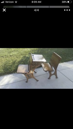 Antique children's desk with folding bench seat for Sale in Lakewood, CA