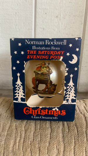 1935 NORMAN ROCKWELL glass ornament/ never out of box, like new for Sale in Long Beach, CA