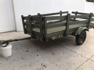 Lawn service garden mower utility motorcycle 4x8 trailer for Sale in Tampa, FL