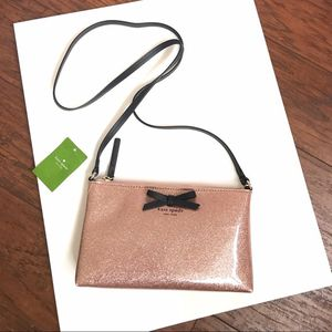 Rose Gold Crossbody Authentic K S ♠️New with tag Mavis Street Amy Glitter Crossbody Shoulder Bag for Sale in Los Angeles, CA