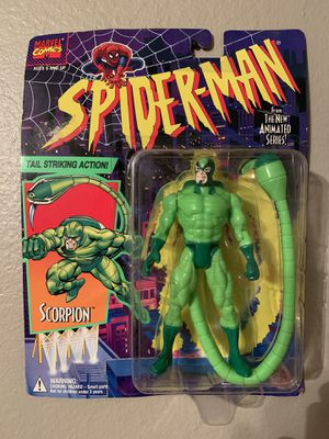 Marvel Spider-Man Animated Series (1995) Scorpion Toy Biz Figure NIP for Sale in Stockton, CA