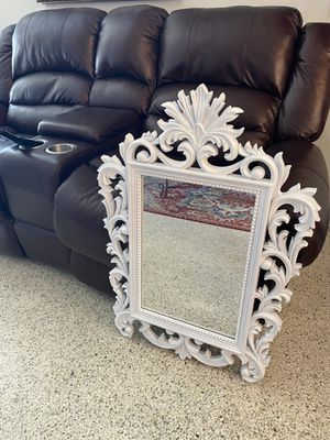 Brand new white plastic mirror for Sale in Coral Gables, FL