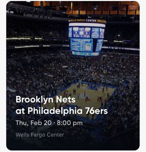 Two tickets for Sixers/Nets game for sale for Sale in Penllyn, PA