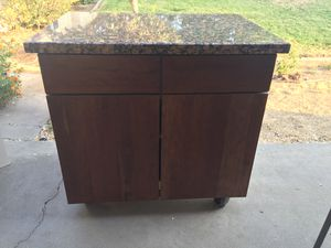 KraftMaid Kitchen Island with Marble top for Sale in Riverside, CA