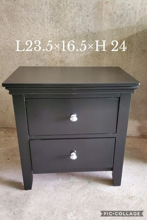 (1) NIGHT STAND SIDE TABLE REFINISHED BLACK AND SILVER PULLS for Sale in Cedar Hill, TX