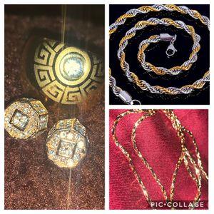 Gold/designer/925sterling/ring/earrings/chain for Sale in Virginia Beach, VA