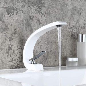 White/Chrome Sink Faucet for Bathroom for Sale in Lauderhill, FL