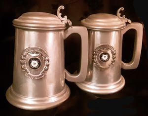 2 US NAVY COAST GUARD PEWTER STEINS - English Pewter by Raimond for Sale in Tacoma, WA