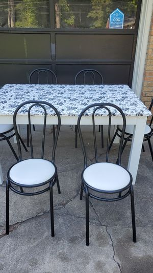 Table with 6 mid century chairs for Sale in Chesapeake, VA