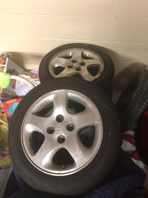 Wheels and tires!!! 15 inch 4 lugs for Sale in Murfreesboro, TN