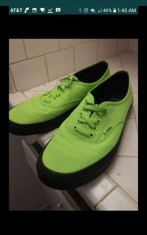 Neon Green Vans shoes size 11 for Sale in Houston, TX
