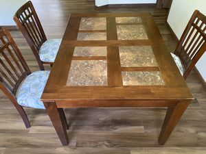 6-8 seat Dining/Kitchen Table with 3 chairs for Sale in Erie, PA