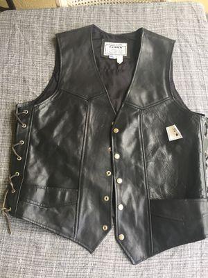 Motorcycle leather jacket vest for Sale in Boca Raton, FL