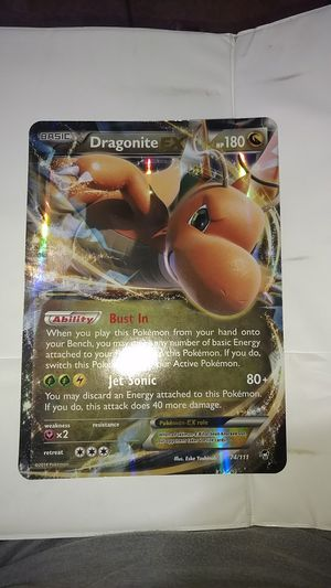 Giant Pokemon card Dragonite ex for Sale in Canton, TX
