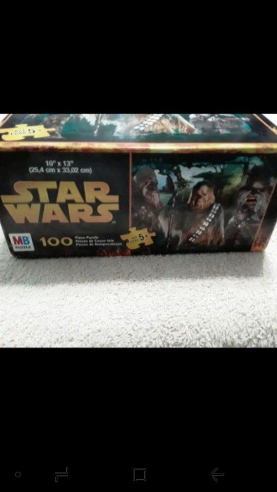 2005 NOS Star Wars CHEWBACCA & WOOKIES 100pc MB Puzzle SEALED