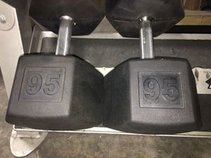 95lbs Tag Rubber Coated Dumbbells for Sale in Addison, TX