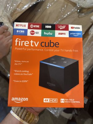 Amazon Fire TV Cube, hands-free with Alexa built in, 4K Ultra HD, streaming media player, released 2019 for Sale in Belleville, MI