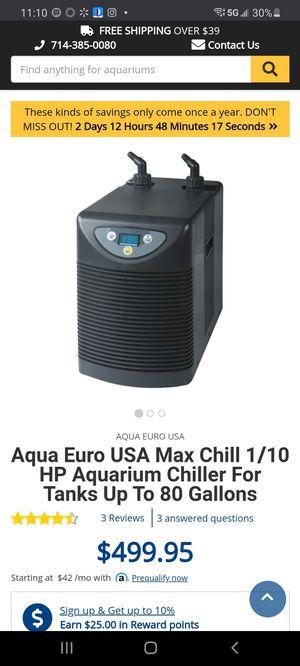 Aqua Euro USA Max Chill 1/10 HP Aquarium Chiller for Sale in Stockton, CA
