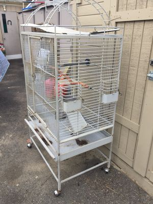 Large cage for birds great shape 5 feet heigh 32 width 23 length for Sale in Malden, MA