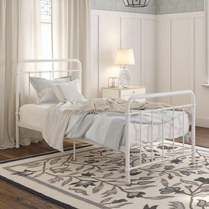 Metal Platform Bed, Twin, White for Sale in Alexandria, VA