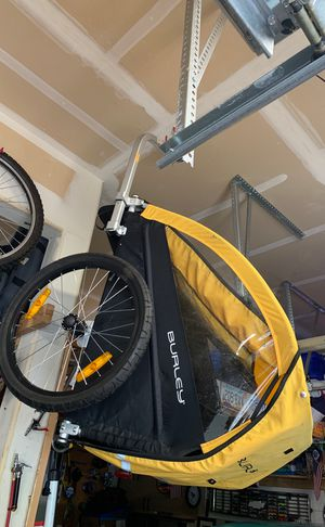 Burley bike trailer for two for Sale in Oregon City, OR
