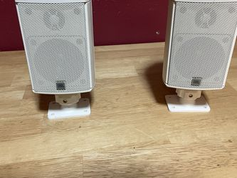 Pair of JBL Satellite or surround speakers with wall or ceiling mount brackets for Sale in Oceanside,  CA