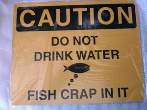 Funny fishing tin sign for Sale in San Diego, CA