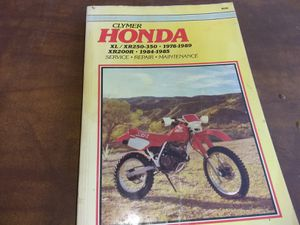 Clymer Motorcycle Repair Manual Honda 78-89,XL,XR 250-350 for Sale in Calimesa, CA