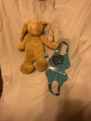 Bunnie and small purse with heart mirror inside for Sale in Buena Park, CA