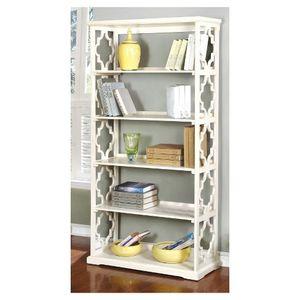 "72.25"" Iohomes Estella 5 Shelf Bookcase White - HOMES: Inside + Out for Sale in Hilliard, OH"