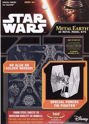 New Disney store Starwars Metal Earth 3D Metal Model kit, Special forces tie fighter for ages 14+ for Sale in Pinellas Park, FL