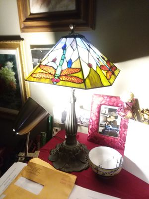 Tiffany style lamp handcrafted price reduced for Sale in San Francisco, CA