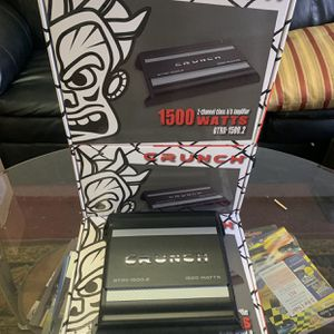 Crunch Car Ausio . Car Stereo Amplifier . 1500 watts . 2 Channel . New Years Super Sale . $69 While They Last . New for Sale in Mesa, AZ