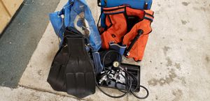 Scubapro scuba gear bcd regulator 1st & 2nd stage inflator flippers and more for Sale in Thornville, OH