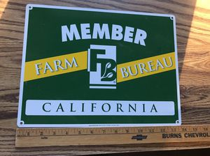 Calif farm bureau sign for Sale in Gilroy, CA