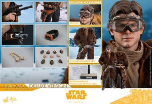 Hot Toys MMS492 Solo A Star Wars Story Han Solo Deluxe Version 1/6 Scale Figure for Sale in West Covina, CA