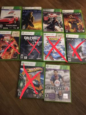 Xbox 360 video games $4ea for Sale in El Cajon, CA