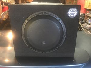 Jl audio speaker in a bassworks box for Sale in University Place, WA