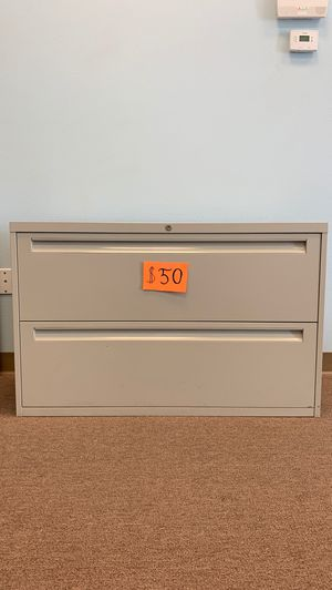 2-DRAWER LATERAL FILE CABINET, ONE TAN, ONE GRAY, $50 EACH, TAKE ONE OR BOTH for Sale in Las Vegas, NV