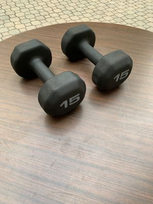 1 pair of 15 lb dumbbells - 30 lbs total for Sale in Barrington, IL