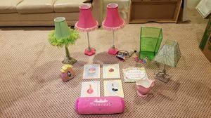 Disney princess piggy bank, picture frame, alarm clock, desk lamps, wall decor, and more for Sale in Blue Bell, PA