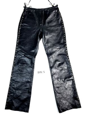 Harley Davidson Women's Size 10 Leather Studded Beaded Motorcycle Pants :S for Sale in Denver, CO