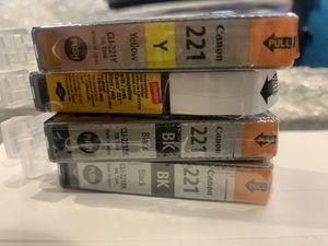 Canon 221 printer cartridges for Sale in Chireno, TX