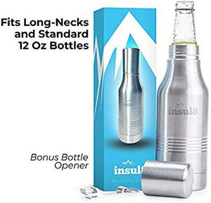 Beer Bottle Cooler   Double Wall Insulated Beer Bottle Holder Stainless Steel Fits 12 oz. Standard and Long-Neck Bottles   for Sale in Grand Prairie, TX