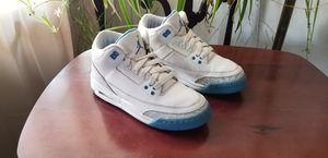 Jordan 3's III RETRO Carlolina Blue size 5y. for Sale in San Leandro, CA